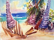 Puerto Rico Paintings - Beach by Barbara Richert