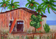 Calif. On Google Painting Originals - Beach Barn by Bob Phillips
