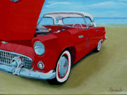 T-bird Painting Framed Prints - Beach Bird Framed Print by Anthony Dunphy