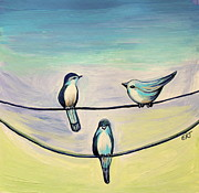 Bird Paintings - Beach Birds by Elizabeth Robinette Tyndall