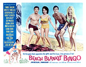 1960s Movies Posters - Beach Blanket Bingo, Frankie Avalon Poster by Everett