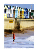 Beach Huts Digital Art Prints - Beach Boy Print by Mike Bambridge
