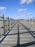 Silvie Kendall Metal Prints - Beach Bridge Metal Print by Silvie Kendall