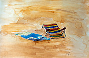 Shores Painting Originals - Beach Bum by Angela Pari  Dominic Chumroo