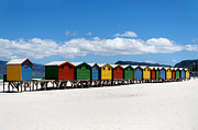 South Africa Prints - Beach cabins  Print by Fabrizio Troiani