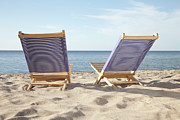 Outdoor Chair Posters - Beach Chairs, Boltenhagen, Mecklenburg-vorpommern, Baltic Sea, Germany Poster by Photo Division