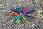 Crayons Photos - Beach Colors by Betsy A Cutler East Coast Barrier Islands
