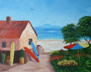 Calif. On Google Painting Originals - Beach Colors by Bob Phillips