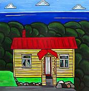 Iconic Paintings - Beach Cottage by Sandra Marie Adams