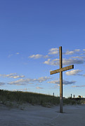 Forgiveness Prints - Beach Cross Print by Terry DeLuco
