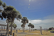 Pasco County Prints - Beach Day after Issac  Print by G Adam Orosco