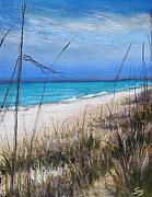 Grass Pastels Framed Prints - Beach Dreaming Framed Print by Susan Jenkins