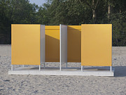 Dressing Art - Beach Dressing Rooms by Jaak Nilson