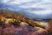 Seashore Pastels Prints - Beach Dune 1 Print by Peter R Davidson