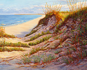 Sand Dunes Paintings - Beach Dune R by Elaine Farmer