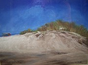 New Jersey Painting Originals - Beach Dune by Sharon Wilkens