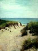 Waterscape Pastels Metal Prints - Beach Dunes Metal Print by Cindy Plutnicki