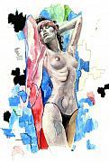 Beach Girl Print by Jose Roldan Rendon