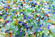 Mary Deal Prints - Beach Glass Print by Mary Deal