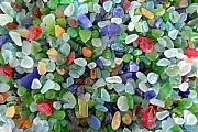 Mary Deal Prints - Beach Glass Mix Print by Mary Deal