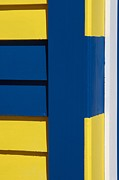 Brighton Beach Prints - Beach House - Blue White Yellow IV Print by Hideaki Sakurai