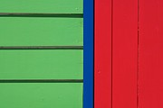 Melbourne Beach Framed Prints - Beach House - Green Red with Blue line IV Framed Print by Hideaki Sakurai
