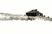 Beach House - Jersey Shore Print by Angie Tirado