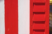 Brighton Beach Prints - Beach House - Red and White II Print by Hideaki Sakurai