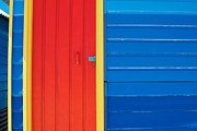 Melbourne Beach Prints - Beach House - Red door Print by Hideaki Sakurai