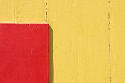 Brighton Beach Prints - Beach House - Yellow and Red Print by Hideaki Sakurai