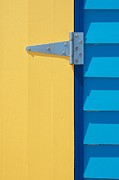 Brighton Beach Posters - Beach House - Yellow Door II Poster by Hideaki Sakurai