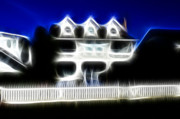 Spooky Originals - Beach House Fractal by Lawrence Christopher