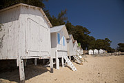 Demoiselles Prints - Beach Huts 1 Print by Stephane Grossin