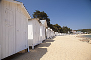 Demoiselles Metal Prints - Beach Huts 3 Metal Print by Stephane Grossin