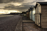 Beach Huts Framed Prints - Beach Huts at Budleigh Framed Print by Rob Hawkins