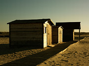 Creativ Photo Originals - Beach Huts At Sunrise by Hedge