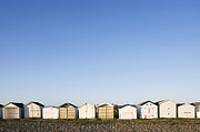 Home Ownership Framed Prints - Beach Huts In A Row Framed Print by James French