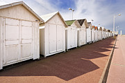 Bathing Photos - Beach Huts by Jon Boyes