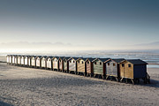 Beach Huts Framed Prints - Beach Huts Muizenberg South Africa Framed Print by Neil Overy