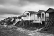 Hut Photo Posters - Beach Huts North Norfolk UK Poster by John Edwards
