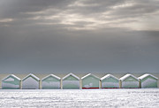 Hove Framed Prints - Beach Huts On Hove Promenade In Snow Brighton Framed Print by Jamie Marshall - Tribaleye Images