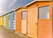 Beach Huts Posters - Beach Huts Poster by Phil Clements
