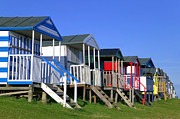 Beach Huts Posters - Beach huts Poster by Richard Thomas