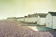 Sussex Framed Prints - Beach Huts Framed Print by Violet Damyan