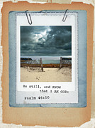 Scripture Photo Posters - Beach Image with Scripture Poster by Jill Battaglia