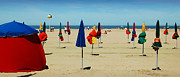 Sunshade Posters - Beach in Deauville Poster by RicardMN Photography