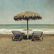 Deckchair Framed Prints - Beach Framed Print by Joana Kruse