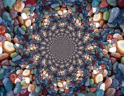 Colored Rocks Posters - Beach Kaleidoscope Poster by Barbara Griffin