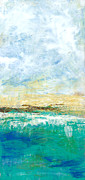 Cloudy Day Paintings - Beach by Kristen Fagan