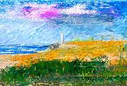 Lighthouse Digital Art - Beach Lighthouse by David Lane